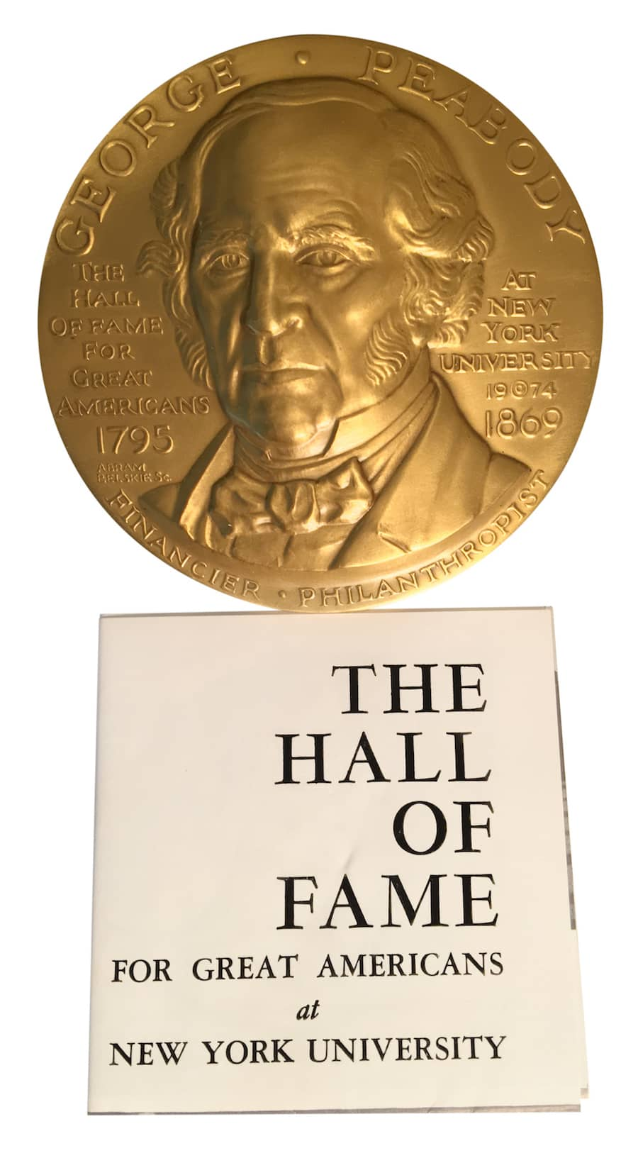 The George Peabody Award, for Great Americans. Paul Vogelzang, 2017
